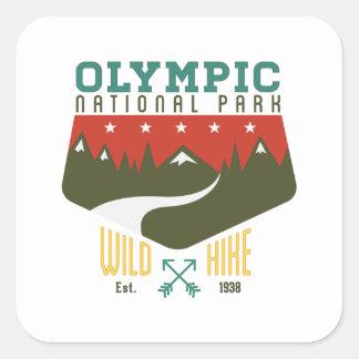 Parque nacional olímpico pegatina cuadrada