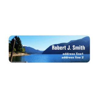 Parque nacional olímpico, Seattle, los E.E.U.U. Etiqueta De Remitente