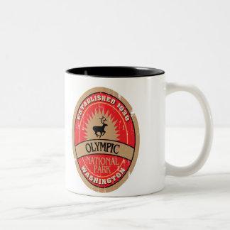 Parque nacional olímpico taza de café