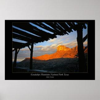 Parque nacional Tejas de las montañas de Guadalupe Póster