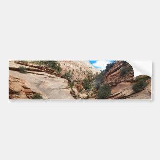 Parque nacional Utah de Zion de la roca pulida Pegatina Para Auto