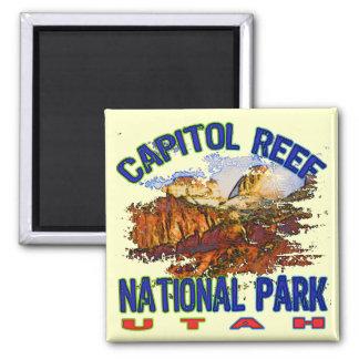 Parque nacional Utah del filón del capitolio Imán Cuadrado