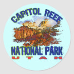 Parque nacional Utah del filón del capitolio Etiqueta Redonda