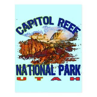 Parque nacional Utah del filón del capitolio Tarjetas Postales