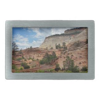 Parque nacional Utah del Mesa Zion del tablero de Hebillas Cinturón Rectangulares