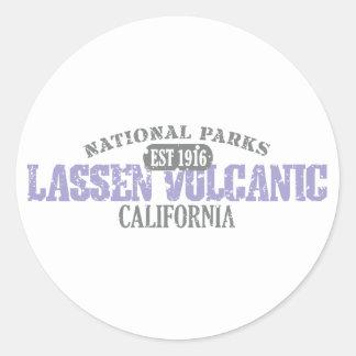 Parque nacional volcánico de Lassen Etiquetas Redondas