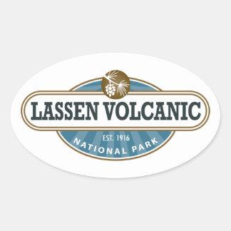 Parque nacional volcánico de Lassen Calcomania Ovalada