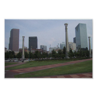 Parque olímpico de Centenial en Atlanta céntrica,  Póster