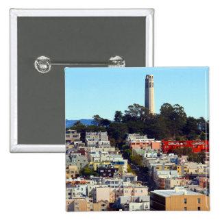 parque pionero de San Francisco Pin Cuadrada 5 Cm
