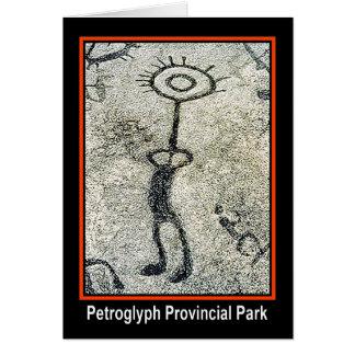 Parque provincial del petroglifo tarjeta de felicitación