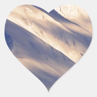 Parque que susurra el lago Ain Kenai Alaska summit Pegatina En Forma De Corazón