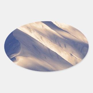 Parque que susurra el lago Ain Kenai Alaska summit Pegatina Ovalada