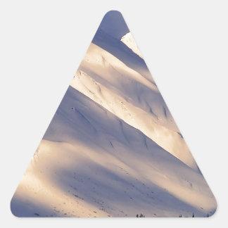 Parque que susurra el lago Ain Kenai Alaska summit Pegatina Triangular