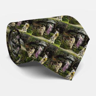Parque que visita del geisha japonés del vintage corbata personalizada