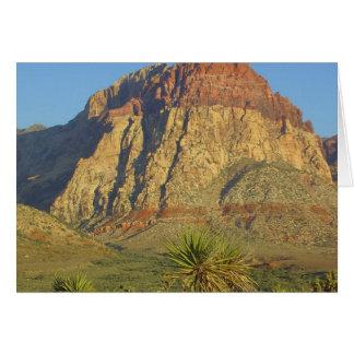 Parque rojo de las rocas cerca de Vegas Tarjeta De Felicitación