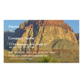 Parque rojo de las rocas cerca de Vegas Tarjetas De Visita