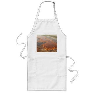 Parque rojo de Yellowstone del agua mineral Delantal Largo
