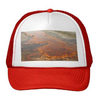 Parque rojo de Yellowstone del agua mineral Gorras
