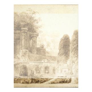 Parque romano con la fuente de Jean-Honore Flyer Personalizado