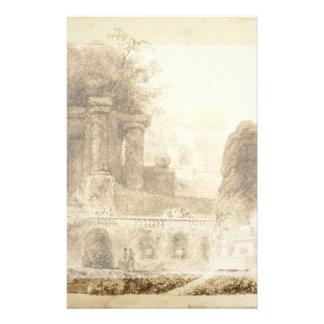 Parque romano con la fuente de Jean-Honore Tarjetas Publicitarias