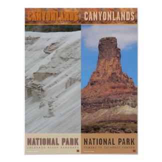 """Parque-Señales del nacional de Canyonlands Invitación 4.25"""" X 5.5"""""""