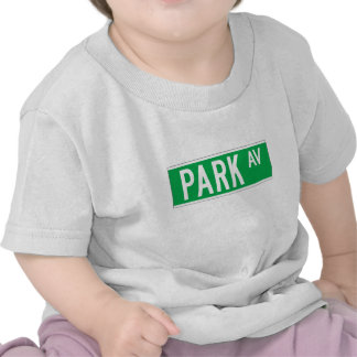 Parque sistema de pesos americano, placa de calle camiseta