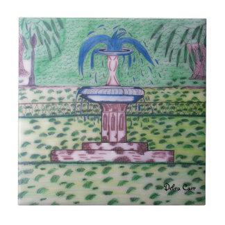 Parque-teja de Forsythe Azulejo Cuadrado Pequeño