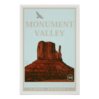 Parque tribal de Navajo del valle del monumento Póster