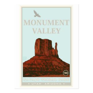 Parque tribal de Navajo del valle del monumento Tarjeta Postal