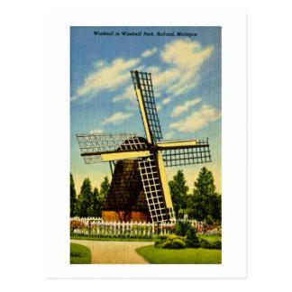Parque vintage de Holanda, Michigan del molino de Tarjeta Postal