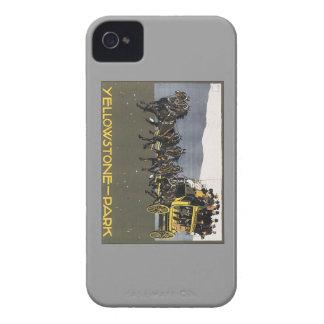 Parque Wyoming de Yellowstone del vintage iPhone 4 Case-Mate Protectores