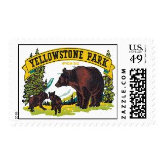 Parque Wyoming de Yellowstone del vintage Timbres Postales