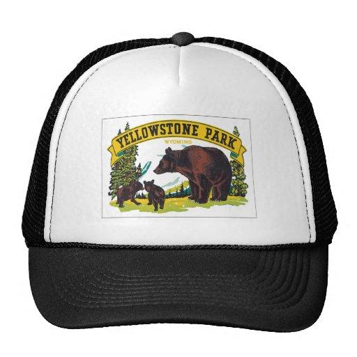 Parque Wyoming los E.E.U.U. de Yellowstone del vin Gorros Bordados