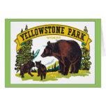 Parque Wyoming los E.E.U.U. de Yellowstone del vin Tarjeton