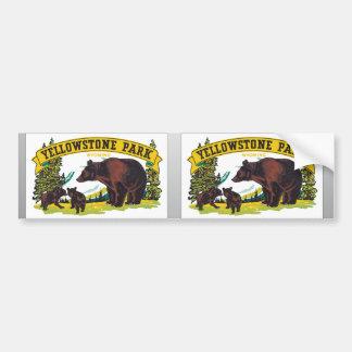 Parque Wyoming vintage de Yellowstone Pegatina De Parachoque