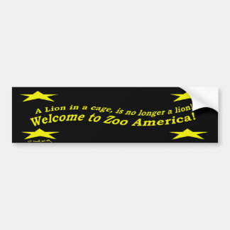 Parque zoológico América Etiqueta De Parachoque