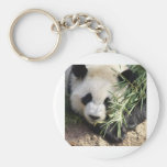 Parque zoológico Atlanta del oso de panda @ Llavero Redondo Tipo Pin