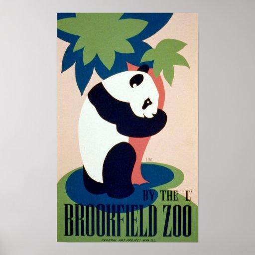 """Parque zoológico de Brookfield por el """"L"""" poster d"""