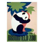 """Parque zoológico de Brookfield por el """"L"""" poster Postal"""