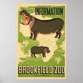 Parque zoológico de Brookfield Póster