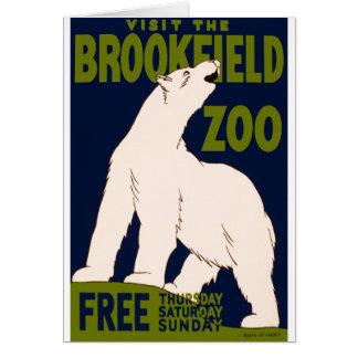 Parque zoológico de Brookfield Tarjeta De Felicitación