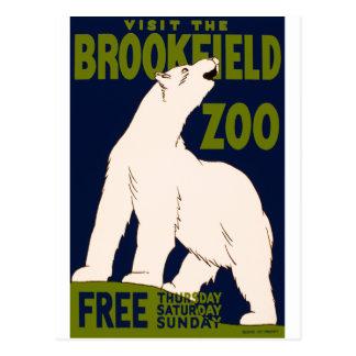 Parque zoológico de Brookfield Tarjetas Postales