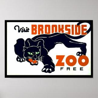 Parque zoológico de Brookside de la visita libre -