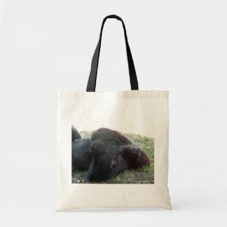 Parque zoológico de Kansas City del gorila de la t Bolsa Lienzo