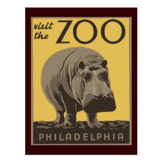 Parque zoológico de Philadelphia Tarjeta Postal