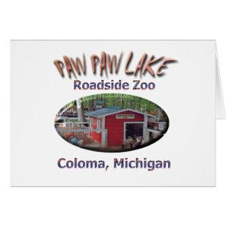 Parque zoológico del borde de la carretera del lag tarjeta de felicitación