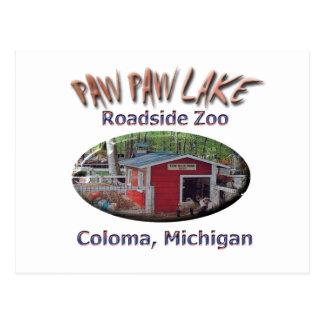 Parque zoológico del borde de la carretera del postal