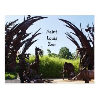 Parque zoológico del Saint Louis Tarjeta Postal