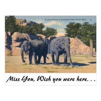 Parque zoológico, Detroit, Michigan Tarjetas Postales