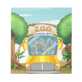 Parque zoológico libreta para notas